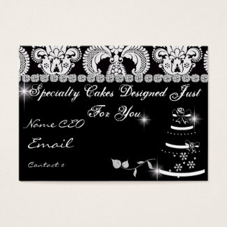 PROFESSIONAL BAKERY Business Card Damask Design