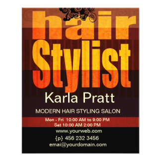 Professional Beauty Salon Spa Hairstylist Full Color Flyer
