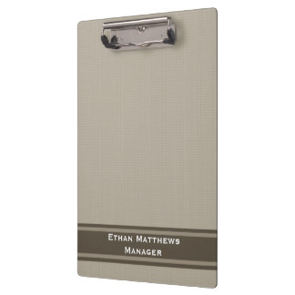 Professional Beige Brown Clipboard