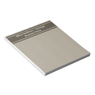 Professional Beige Brown Notepad
