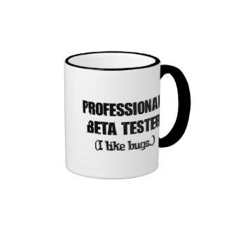professional beta tester (like bugs) ringer coffee mug