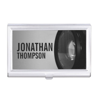 Professional Black and White Photography Business Card Holder