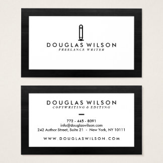 Professional black and white wood texture modern business card
