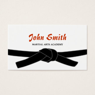 Professional Black Belt Martial Arts Business Card