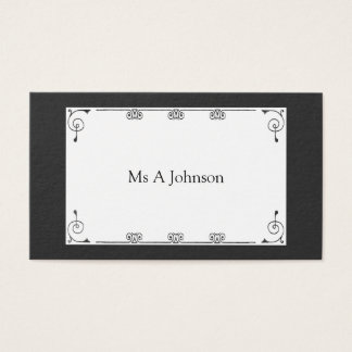 Professional black business card