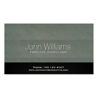 Professional black metal simple professional water business card