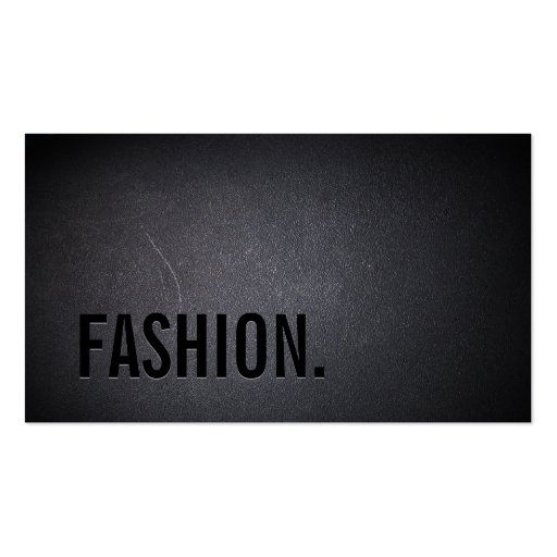 Professional Black Out Fashion Business Card