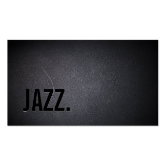 Professional Black Out Jazz Music Business Card