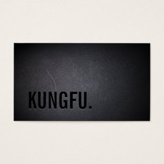Professional Black Out Kungfu Business Card