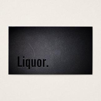 Professional Black Out Liquor Business Card