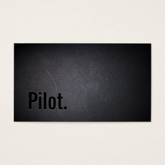 Professional Black Out Pilots Business Card