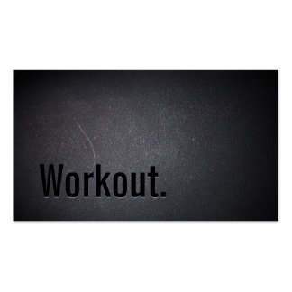 Professional Black Out Workout Business Card