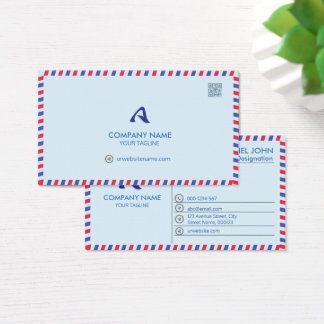 PROFESSIONAL BLUE -CORPORATE WITH A LOGO AND CARD