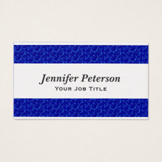 Professional Blue Water Texture Business Card