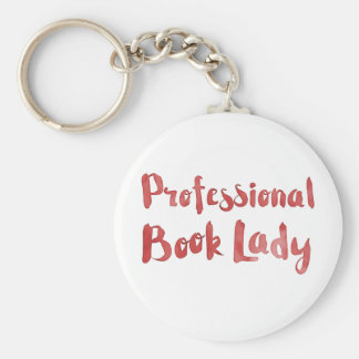 professional book lady keychain