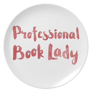 professional book lady party plates