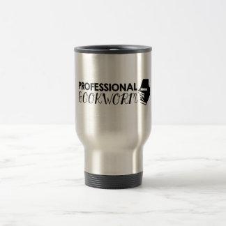 Professional bookworm travel mug