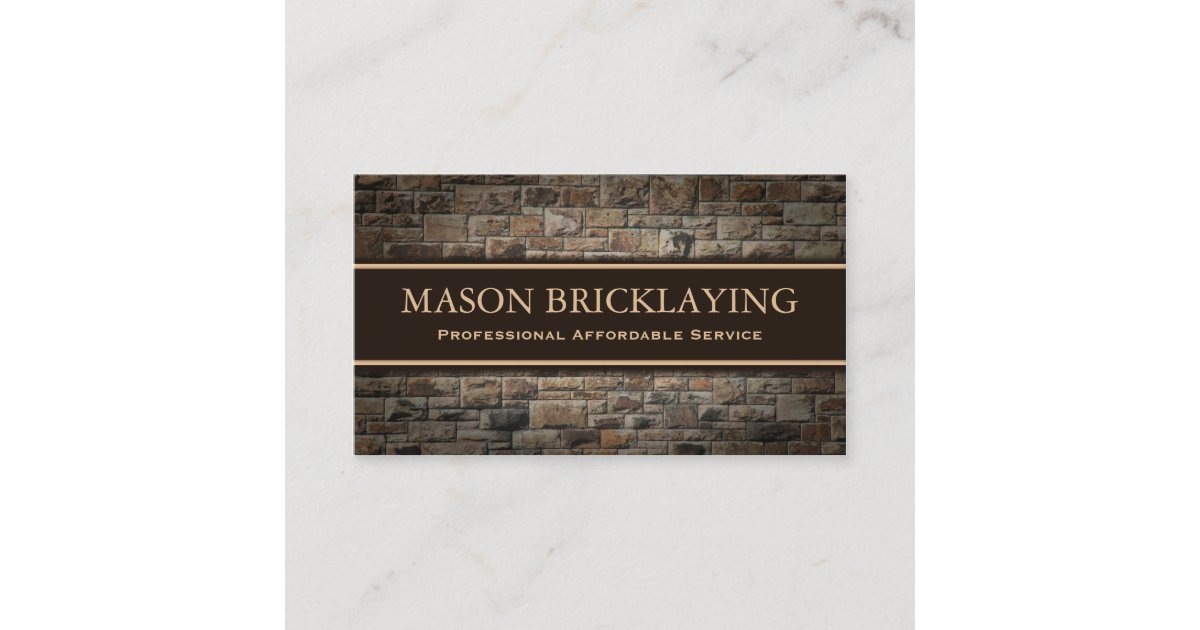 Professional Builder / Bricklaying Business Card | Zazzle.ca