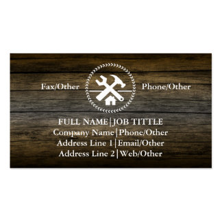Professional Builder Carpenter Tools Woodworking Business Card