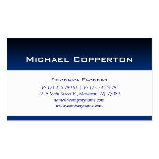 Professional Business Card Financial Planner Blue