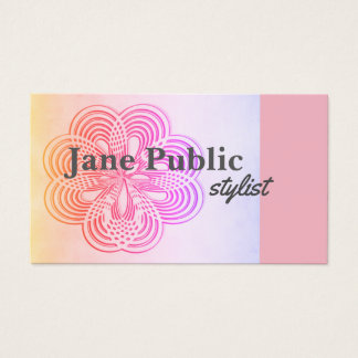 professional business card pink design double side