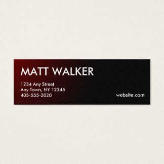 Professional Carbon Fibre red business cards