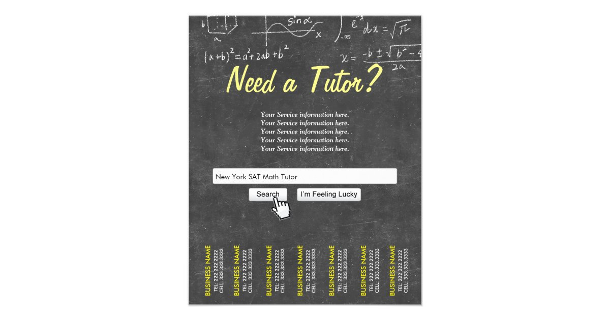 Tutoring Flyer Template Image Collections Template Design Ideas