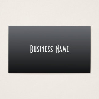 Professional Charcoal Business Card