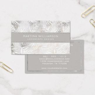 Professional Chic Palm Leaves Designer Landscape Business Card