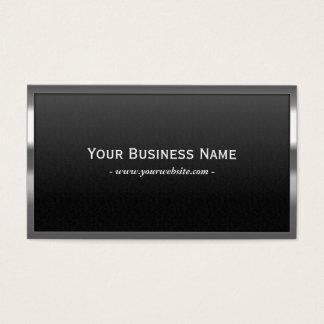 Professional Chrome Frame Dark Metal Business Card