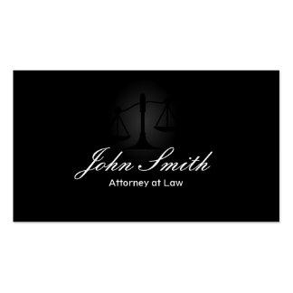 Professional Classy Dark Attorney Business Card