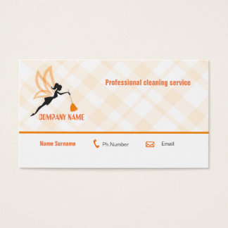 Professional cleaning service business card