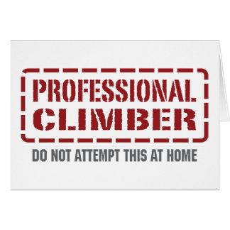 Professional Climber Card