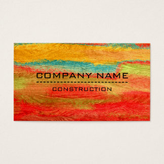 Professional Colourful Modern Wood Look #3 Business Card