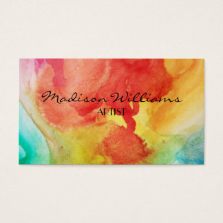 Professional Colourful Unique Artists Business Card