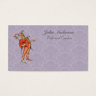 Professional Comedian - Court Jester Business Card