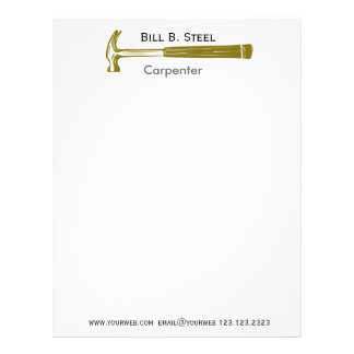 Professional Construction Builder Carpenter Letterhead