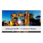 Professional Construction Excavator Driver Business Card Templates