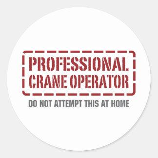 Professional Crane Operator Classic Round Sticker