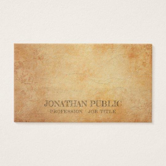 Professional Creative Elegant Antic Look Luxury Business Card