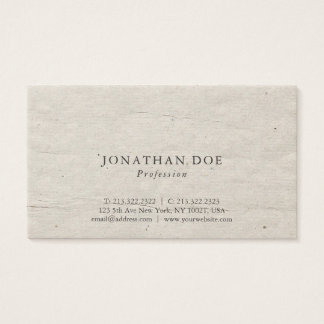 Professional Creative Vintage Historical Used Look Business Card