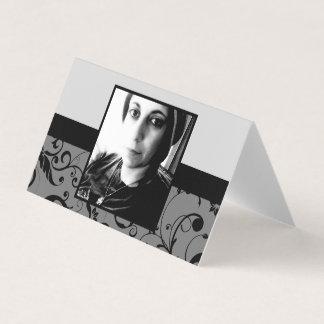 professional damask folded memorial card