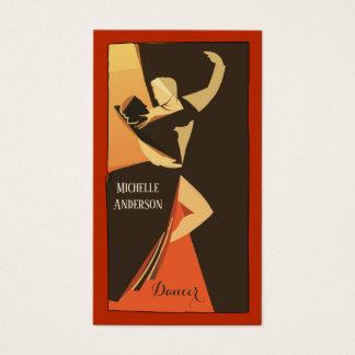 Professional Dancer Business Card