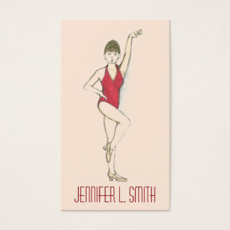 Professional Dancer Dance Teacher Choreographer Business Card