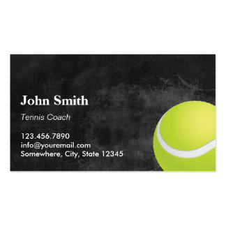 Professional Dark Tennis Business Cards