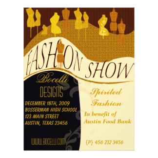 Professional  Designer Fashion Show Invitation Personalized Flyer