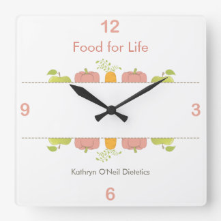 Professional Dietician or Nutritionist Time Square Wall Clock