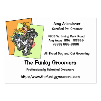 Professional Dog And Cat Grooming Cards Large Business Card