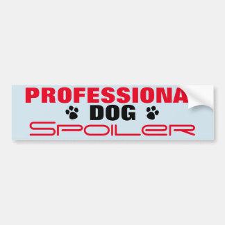 Professional Dog Spoiler Bumper Sticker