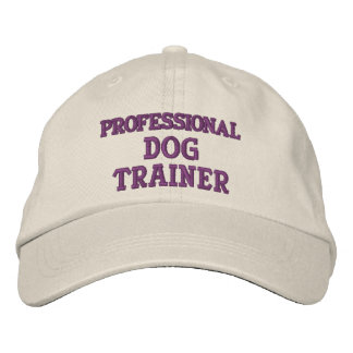 PROFESSIONAL DOG TRAINER EMBROIDERED HAT
